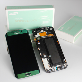Samsung Galaxy S6 Edge SM-G925F Display grün/green