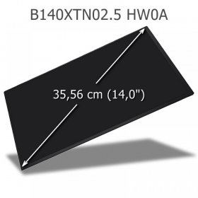 AUO B140XTN02.5 HW0A LED Display 14,0 WXGA
