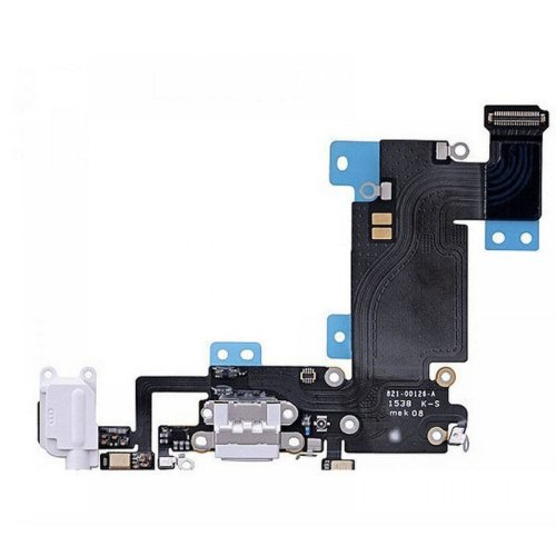 iPhone 6s Plus System Anschluss Connector inkl. Audio Flexkabel weiß