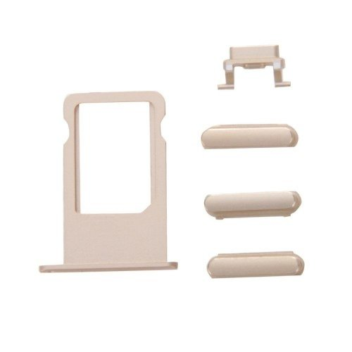 iPhone 6s Plus Button-Kit inkl. SIM Kartenhalter, Lautstärke, Powerbutton, Stummschalter gold