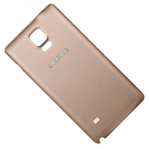 Samsung Galaxy Note 4 SM-N910F Akkudeckel / Batterie Cover 4G Logo gold