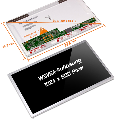 LED Display 10,1 1024x600 glossy passend für Acer Aspire One ZG8