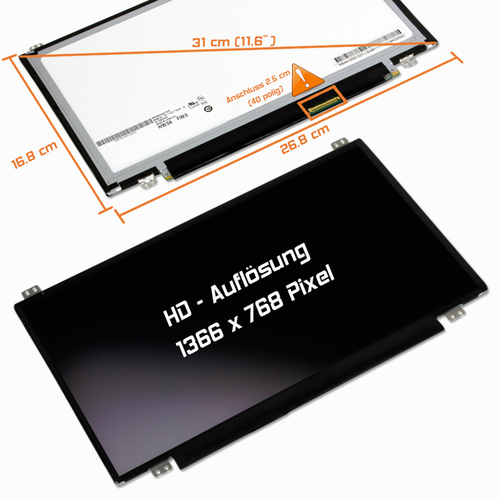 LED Display 11,6 1366x768 glossy passend für Acer Aspire One 725