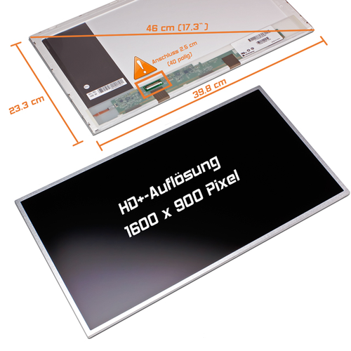 LED Display 17,3 1600x900 matt passend für Packard Bell EasyNote LJ65