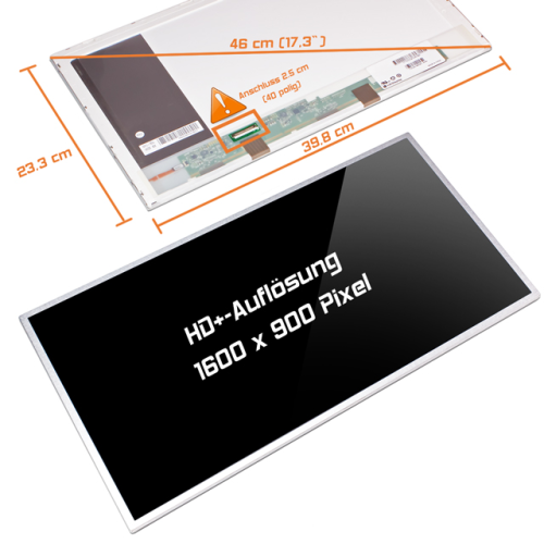 LED Display 17,3 1600x900 glossy passend für Samsung RC730