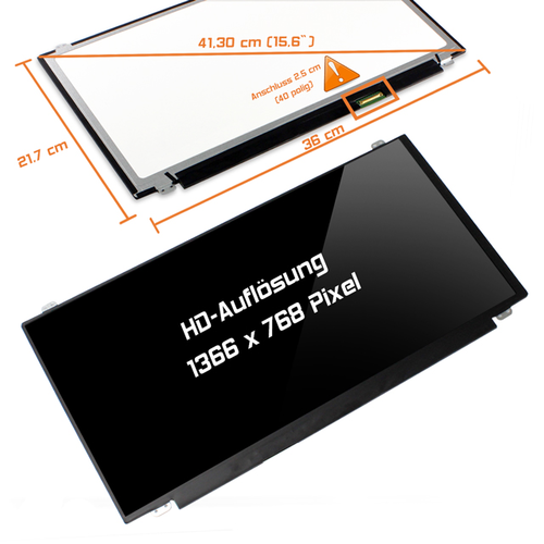 LED Display 15,6 1366x768 glossy passend für Samsung NP370R5E