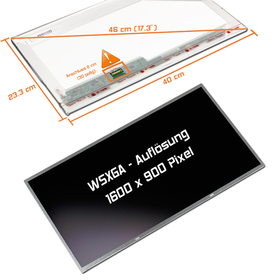 LED Display 17,3 1600x900 matt passend für AUO B173RTN01.3