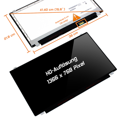 LED Display 15,6 1366x768 glossy passend für AUO B156XW04 V.7