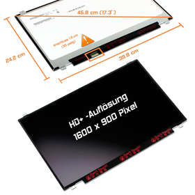LED Display 17,3 1600x900 matt passend für AUO B173RTN02.1