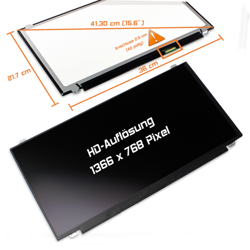 LED Display 15,5 1366x768 matt passend für Fujitsu Lifebook E554