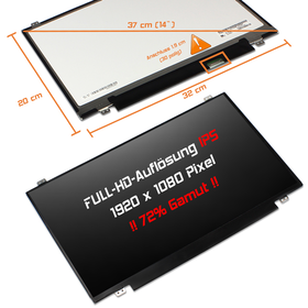 LED Display 14,0 1920x1080 matt passend für Asus VivoBook...