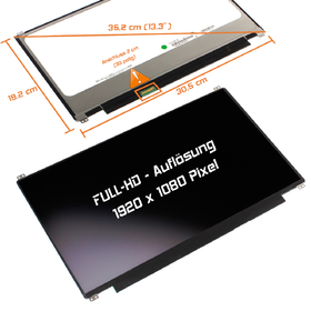 LED Display 13,3 1920x1080 matt passend für Asus ZenBook...