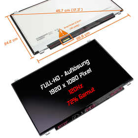 LED Display 17,3 1920x1080 matt passend für AUO B173HAN01.4