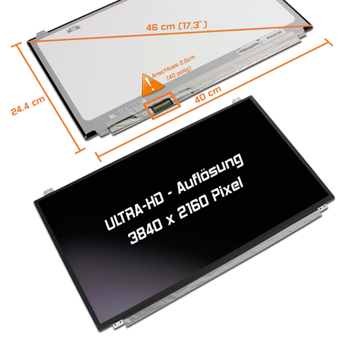 LED Display 17,3 3840x2160 matt passend für Eurocom Sky DLX7