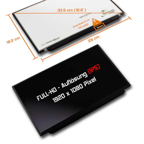 LED Display 12,5 1920x1080 matt passend für Lenovo FRU 00HM745