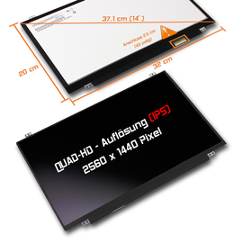 LED Display 14,0 2560x1440 matt passend für Lenovo FRU...