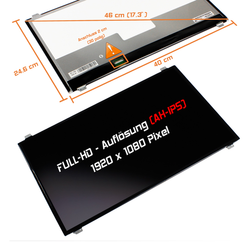 LED Display 17,3 1920x1080 matt passend für Clevo MIFcom EG7