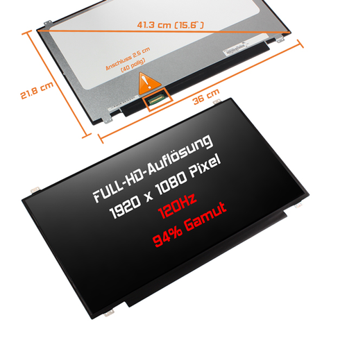 LED Display 17,3 1920x1080 matt passend für MSI GE72VR-6RF16H11