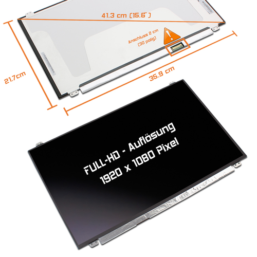 LED Display 15,6 1920x1080 matt passend für MSI GP63