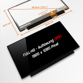 LED Display 13,3 1920x1080 glossy passend für Toshiba...
