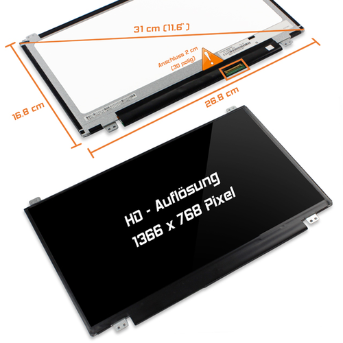 LED Display 11,6 1366x768 glossy passend für Toshiba P000662750