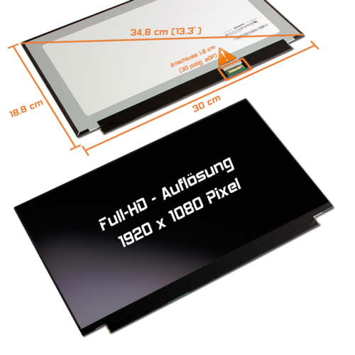 LED Display 13,3 1920x1080 matt passend für Lenovo Ideapad 720S-13ARR 81BR