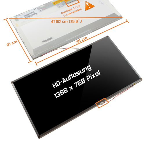 LCD Display 15,6 1366x768 glossy passend für Gateway NV55C