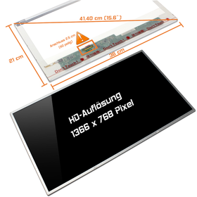 LED Display 15,6 1366x768 glossy passend für LG Philips...