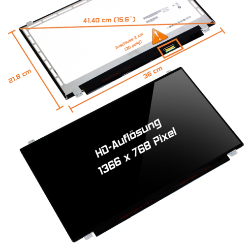 LED Display 15,6 1366x768 glossy passend für LG Philips LP156WHB (TP)(A1)