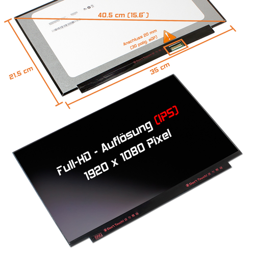 LED Display 15,6 1920x1080 matt passend für Honor MagicBook 15