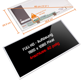 LED Display 17,3 1920x1080 glossy passend für AUO...