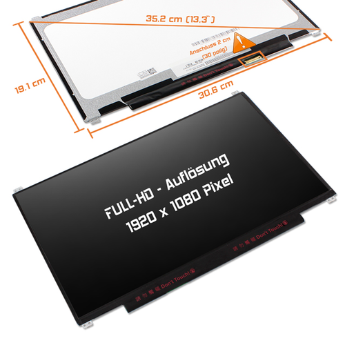 LED Display 13,3 1920x1080 matt passend für AUO B133HTN01.1
