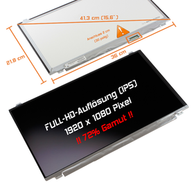 LED Display 15,6 1920x1080 matt passend für LG Philips...
