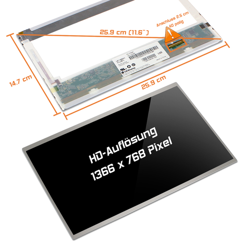 LED Display 11,6 passend für Acer Aspire One 752